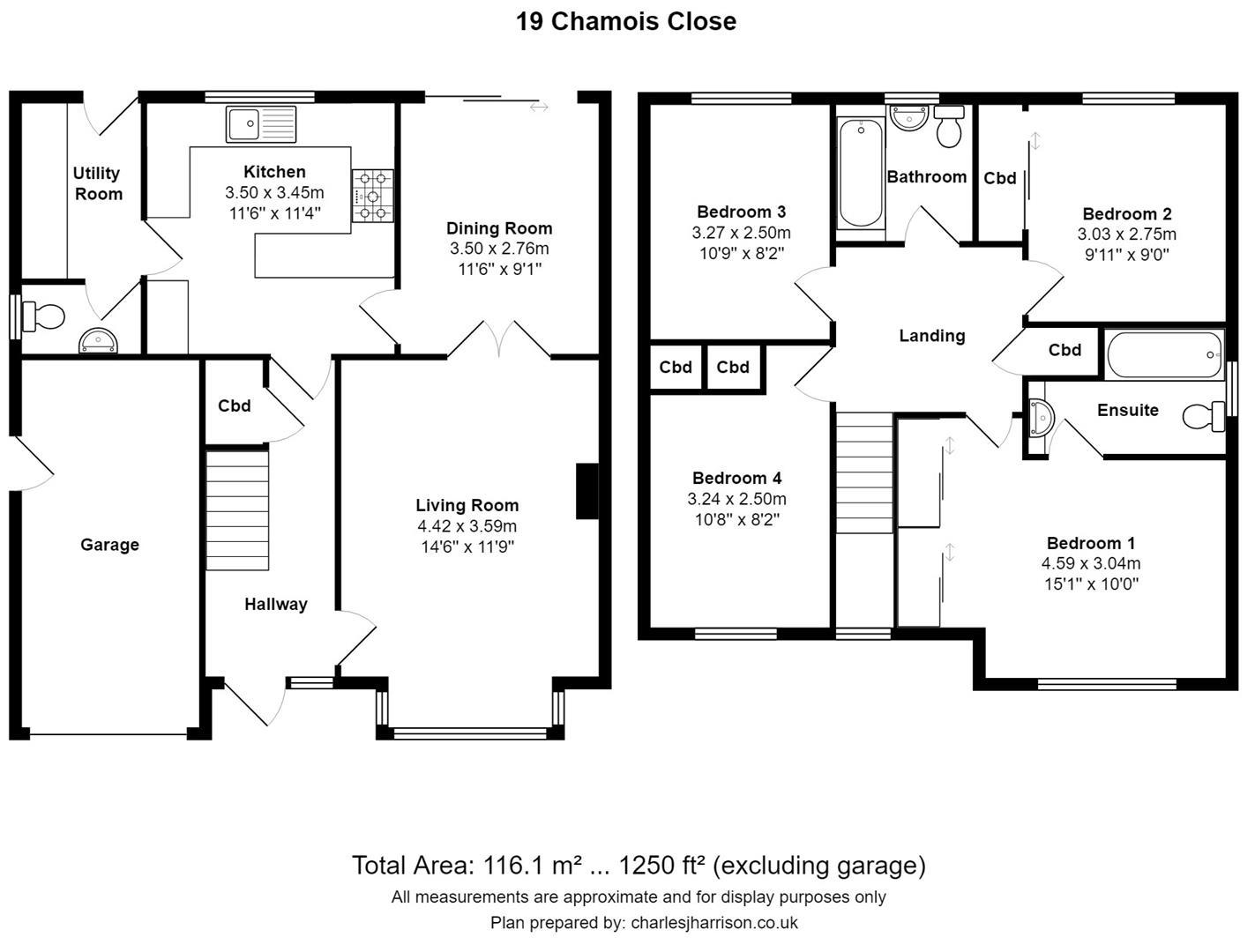 Floor plan Chamois Close, Sawston, Cambridge